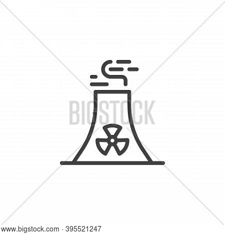 Oil Industry Pipe Line Icon. Linear Style Sign For Mobile Concept And Web Design. Refinery Factory P