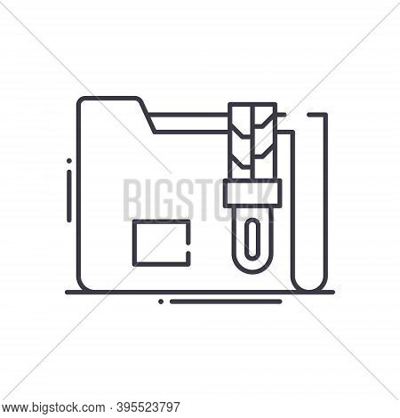 Data Compression Icon, Linear Isolated Illustration, Thin Line Vector, Web Design Sign, Outline Conc