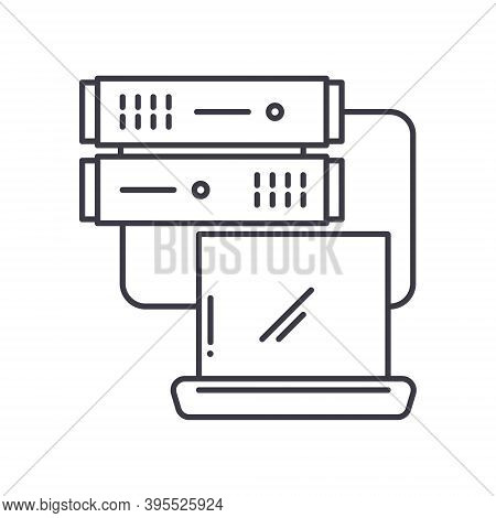 Data Base Icon, Linear Isolated Illustration, Thin Line Vector, Web Design Sign, Outline Concept Sym