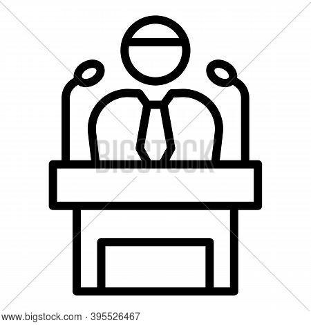 Mentor Speaker Icon. Outline Mentor Speaker Vector Icon For Web Design Isolated On White Background
