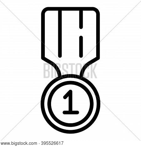 Mentor Gold Medal Icon. Outline Mentor Gold Medal Vector Icon For Web Design Isolated On White Backg