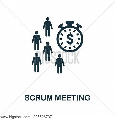 Scrum Meeting Icon. Simple Element From Agile Method Collection. Filled Scrum Meeting Icon For Templ