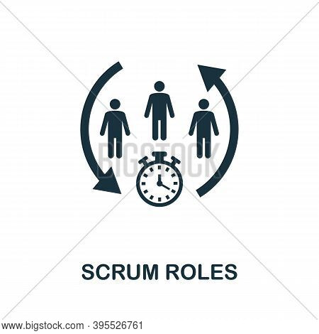 Scrum Roles Icon. Simple Element From Agile Method Collection. Filled Scrum Roles Icon For Templates