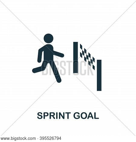 Sprint Goal Icon. Simple Element From Agile Method Collection. Filled Sprint Goal Icon For Templates