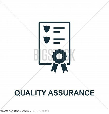 Quality Assurance Icon. Simple Element From Agile Method Collection. Filled Quality Assurance Icon F