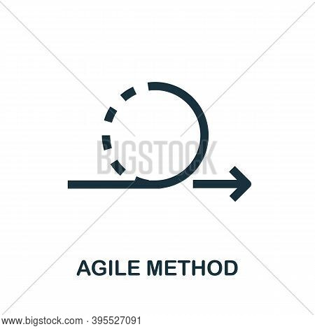 Agile Method Icon. Simple Creative Element. Filled Agile Method Icon For Templates, Infographics And