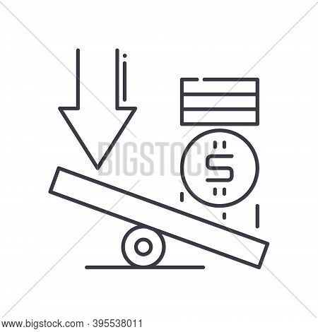 Credit Leverage Icon, Linear Isolated Illustration, Thin Line Vector, Web Design Sign, Outline Conce