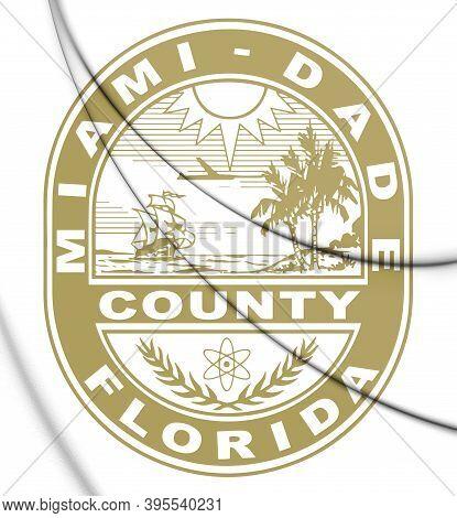 3d Seal Of Miami-dade County (florida), Usa. 3d Illustration.