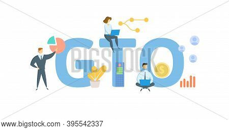 Gto, Group Training Organisation. Concept With Keywords, People And Icons. Flat Vector Illustration.