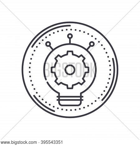 Creative Production Icon, Linear Isolated Illustration, Thin Line Vector, Web Design Sign, Outline C