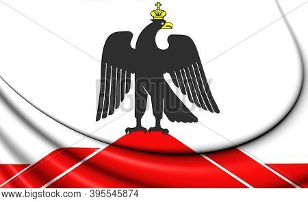 3d Flag Of Orsk (orenburg Oblast), Russia. 3d Illustration.