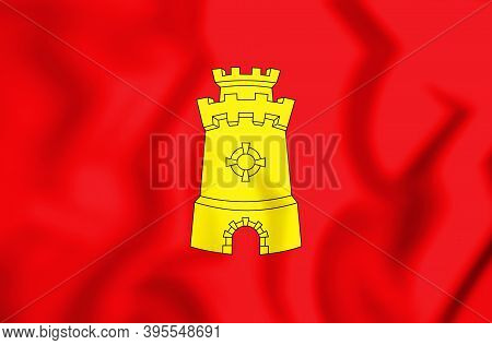 3d Flag Of Middelburg (zeeland), Netherlands. 3d Illustration.