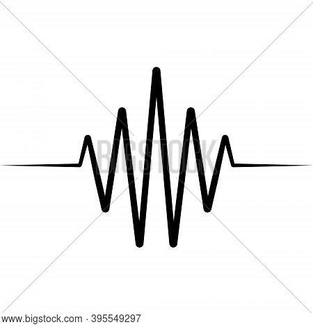 Activity Splash Icon Wave Logo, Vector Heartbeat Heart Rate Icon, Audio Sound Radio Wave Amplitude S
