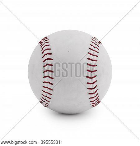 Baseball Isolated On A White Background. 3d Render Illustration