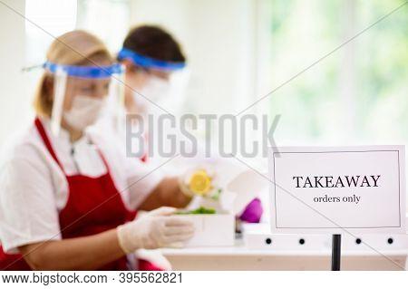 Food Takeaway During Coronavirus Outbreak.