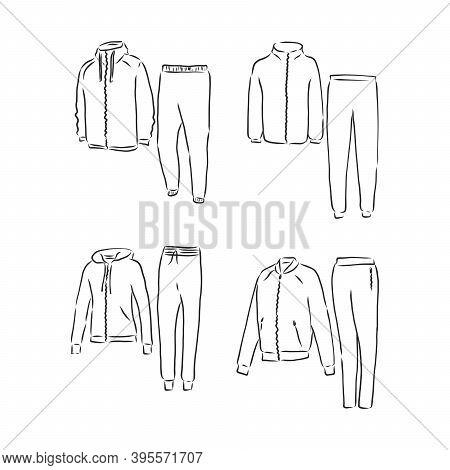 Tracksuit Man Boy Garment Vector Sport. Tracksuit Vector Sketch Illustration