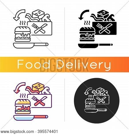 Meal Kit Delivery Icon. Restaurant-quality Meals At Home. Cooking-for-yourself Thing. Pre-portioned