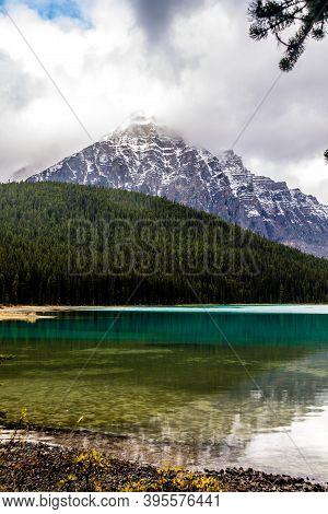 Late Summer At Waterfowl Lakes. Banff National Park, Alberta, Canada