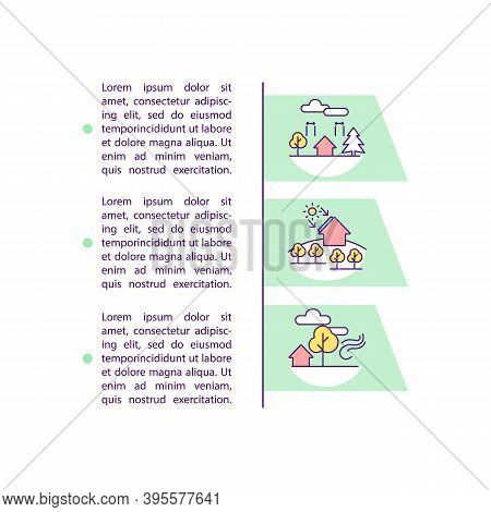 Landscaping Concept Icon With Text. Building Construction. Sustainable Architecture. Alternative Ene