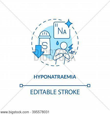 Hyponatraemia Concept Icon. Antidepressants Effect Idea Thin Line Illustration. Low Sodium Concentra