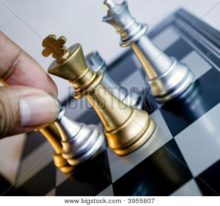 Move Silver Chess Pawn