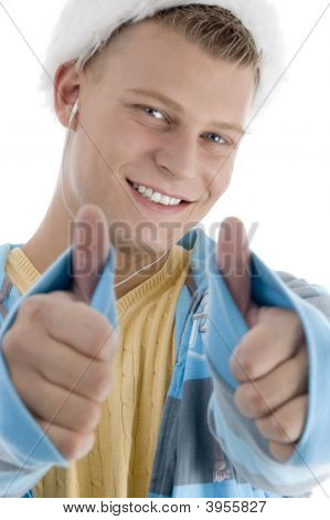 Pleased Man Wishing Goodluck