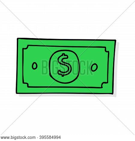Vector Dollar Sign, Money Dollar Icon - Currency Dollar Bill Symbol Vector Eps 10