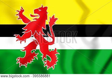 3d Flag Of Geertruidenberg (north Brabant), Netherlands. 3d Illustration.