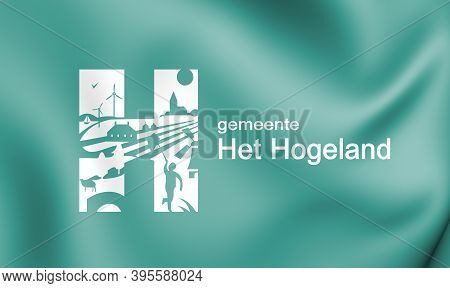 3d Flag Of Het Hogeland (groningen), Netherlands. 3d Illustration.