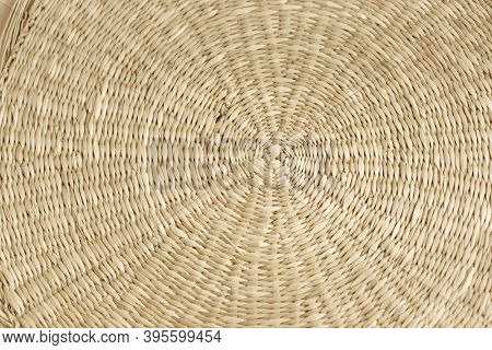 Pattern of weave mat. Woven bamboo for background. Woven bamboo texture, bamboo mat. Linen weaving