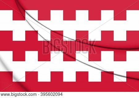 3d Flag Of Dongen (north Brabant), Netherlands. 3d Illustration.