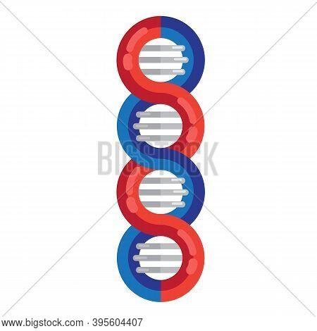 Dna Strands Molecule Vector Illustration. Spiral Genetic Dna Medical Icon. Helix Structure Symbol. D