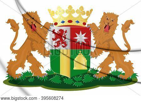 3d Zuidplas Coat Of Arms (south Holland), Netherlands. 3d Illustration.