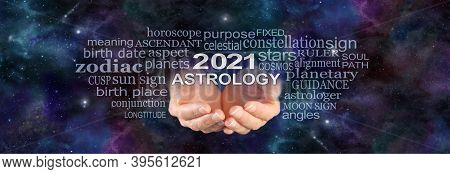 Your 2021 Astrology Is Written In The Stars - Wide Night Sky Deep Space Dark Background With A Pair