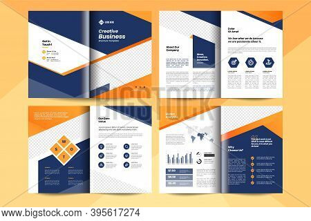 Creative Business Brochure Layout Template. Business Booklet Design Layout