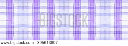 Purple Flannel Checks. Watercolor Square Blanket. Modern Textured Tablecloth. Seamless Flannel Check