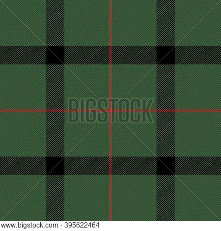 Christmas And New Year Tartan Plaid. Scottish Pattern In Black, Green And Red Cage. Scottish Cage. T
