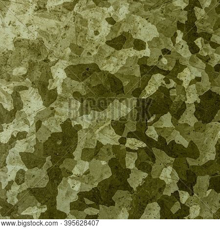 Khaki Texture Background. Watercolor Camo Material. Grey Army Fabric. Grunge Woodland Print. Olive K