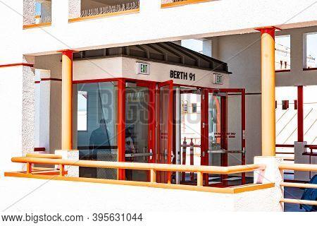 San Pedro, California - October 11 2019: Berth 91 On Passenger Terminal At Port Of Los Angeles World