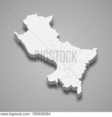 3d Isometric Map Of Cusco Is A Region Of Peru