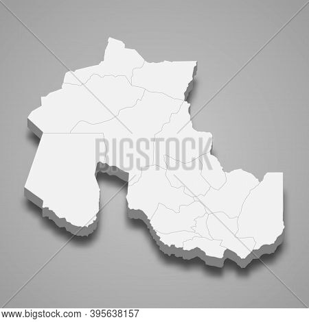 3d Isometric Map Of Jujuy Is A Province Of Argentina