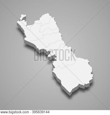 3d Isometric Map Of Lima Is A Region Of Peru