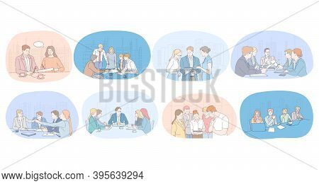 Communication, Business, Teamwork, Brainstorming, Presentation, Agreement Concept. Business People P