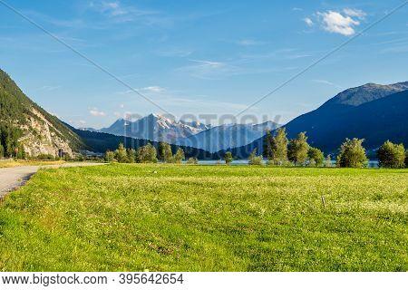 Splendid View Of Lake Resia - Reschensee - South Tyro, Italy, Europe.