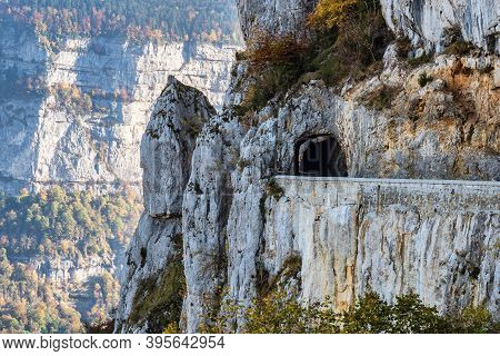 Landscape Of Vercors In France - View Of Combe Laval, Col Del La Machine, France, Europe