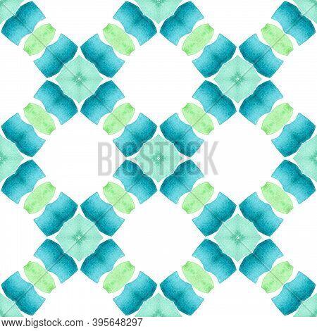 Textile Ready Posh Print, Swimwear Fabric, Wallpaper, Wrapping.  Green Exquisite Boho Chic Summer De