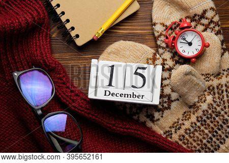 Fifteenth Day Of Winter Month Calendar December.