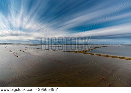 Flooded Rice Fields Long Exposure In Albufera