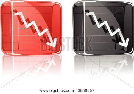 Chart Down Glass