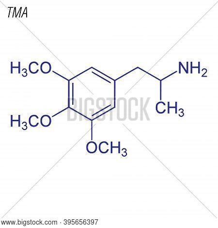 Vector Skeletal Formula Of Tma. Drug Chemical Molecule.